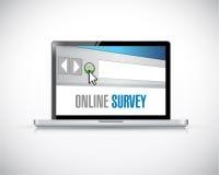 Online browser survey illustration design Stock Photography