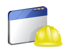 Online browser under construction Royalty Free Stock Photos