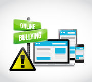 online bullying browser warning concept Royalty Free Stock Image