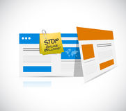 online bullying technology warning concept Stock Photo