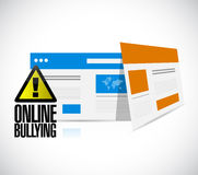 Online bullying web browser warning concept Royalty Free Stock Image
