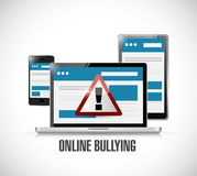 Online bullying web warning concept Royalty Free Stock Photography
