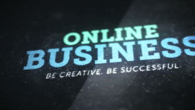 Online business background video animation