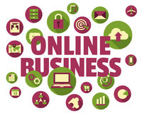 Online business concept Royalty Free Stock Photography