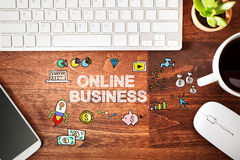 Online Business concept with workstation Stock Photography
