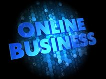 Online Business on Dark Digital Background. Stock Photo