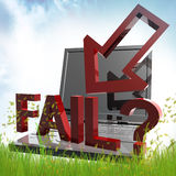 Online business failure icon Royalty Free Stock Photography