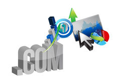 Online business graphs illustration design Royalty Free Stock Photo