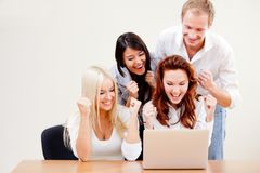 Online business group Royalty Free Stock Photos