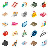 Online business icons set, isometric style. Online business icons set. Isometric set of 25 online business vector icons for web isolated on white background Royalty Free Stock Image