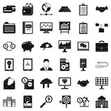 Online business icons set, simple style. Online business icons set. Simple style of 36 online business vector icons for web isolated on white background Royalty Free Stock Photography