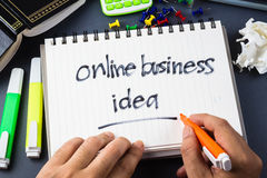 Online business idea Royalty Free Stock Photo