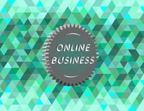 Online business. Illustration of online business, vector image Stock Images