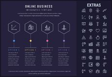 Online business infographic template and elements. Stock Photo
