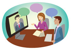 Online business meeting Royalty Free Stock Photography