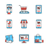 Online business. Mobile store Royalty Free Stock Photos