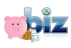 Online business profits Stock Image