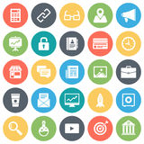 Online Business and Start Up Minimal Icon Set Royalty Free Stock Photography