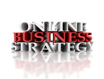Online business strategy Stock Images