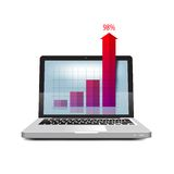 Online business. Success in business. Laptop icon Royalty Free Stock Photo