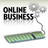 Online business theme Stock Illustration
