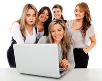 Online business women Royalty Free Stock Image