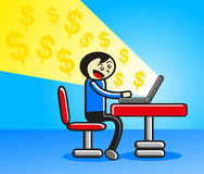 Online Businessman Stock Photo