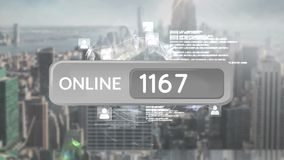 Online button with numbers royalty free illustration