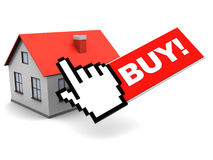 Online buy house Royalty Free Stock Image