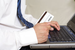 Online buying Stock Image