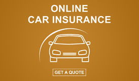 Online car insurance concept Royalty Free Stock Images