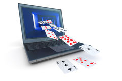 Online card game Royalty Free Stock Photo