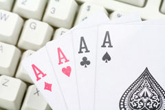 Online card games Royalty Free Stock Image