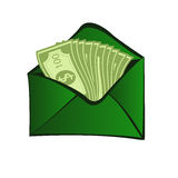 Online cash Stock Photo