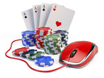 Online casino concept Royalty Free Stock Images