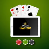 Online casino design poster banner. Stock Photography