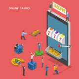 Online casino flat isometric vector concept. Stock Images