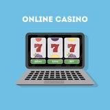 Online casino in laptop. Stock Images