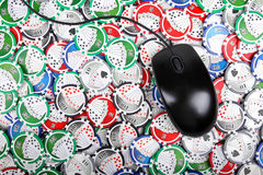 Online casino poker concept Royalty Free Stock Image