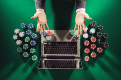 Online casino and poker Royalty Free Stock Photography
