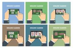 Online casino set. Stock Photos