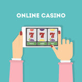 Online casino in tablet. Royalty Free Stock Photos