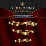 Online casino template elements with ribbons Stock Images
