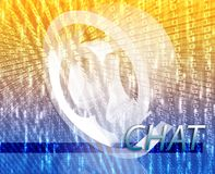 Online chat. Internet communication illustration for blogs chat newsgroup forums bulletin boards Stock Photos
