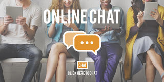 Online Chat Global Communications Connection Concept Stock Photography