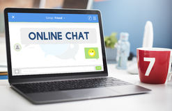 Online Chat Message Connection Talking Concept Stock Photo