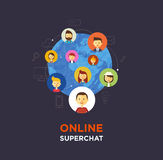 Online chat social media illustration Royalty Free Stock Photo