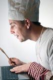 Online Chef-kok Stock Foto
