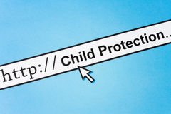 Online Child Protection. Concept of online Child Protection, Social Issues Stock Photo