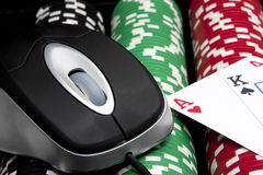 Online chips and cards (casino games) Stock Photos